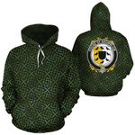 Brownlow Family Crest Ireland Background Gold Symbol Hoodie