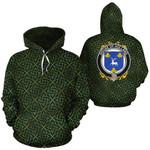 Holland Family Crest Ireland Background Gold Symbol Hoodie