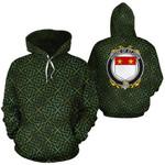 St.John Family Crest Ireland Background Gold Symbol Hoodie