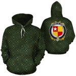 Vere Family Crest Ireland Background Gold Symbol Hoodie