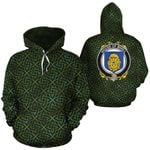 Mihill Family Crest Ireland Background Gold Symbol Hoodie