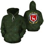 O'Kinnally Family Crest Ireland Background Gold Symbol Hoodie