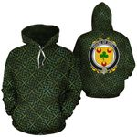 Odell Family Crest Ireland Background Gold Symbol Hoodie