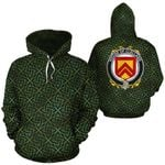 Clelland Family Crest Ireland Background Gold Symbol Hoodie