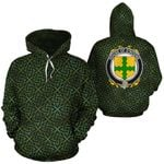 O'Noone Family Crest Ireland Background Gold Symbol Hoodie