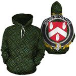 O'Byrne Family Crest Ireland Background Gold Symbol Hoodie