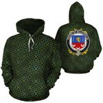 McLoughlin Family Crest Ireland Background Gold Symbol Hoodie