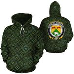 McDonagh Family Crest Ireland Background Gold Symbol Hoodie