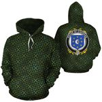 O'Duggan Family Crest Ireland Background Gold Symbol Hoodie