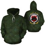 Athy Family Crest Ireland Background Gold Symbol Hoodie
