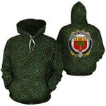 Burroughs Family Crest Ireland Background Gold Symbol Hoodie