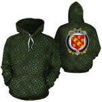 Rowe Family Crest Ireland Background Gold Symbol Hoodie