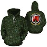 Keyes Family Crest Ireland Background Gold Symbol Hoodie