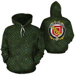 O'Quigley Family Crest Ireland Background Gold Symbol Hoodie