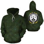 O'Teague Family Crest Ireland Background Gold Symbol Hoodie