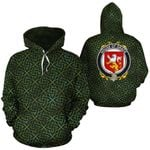 Grace Family Crest Ireland Background Gold Symbol Hoodie