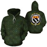 Clements Family Crest Ireland Background Gold Symbol Hoodie