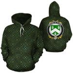 Flood Family Crest Ireland Background Gold Symbol Hoodie
