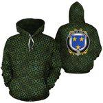 Hilliard Family Crest Ireland Background Gold Symbol Hoodie