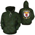 Bryne Family Crest Ireland Background Gold Symbol Hoodie