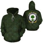 O'Quirke Family Crest Ireland Background Gold Symbol Hoodie