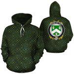 Tuly Family Crest Ireland Background Gold Symbol Hoodie