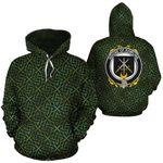 Rawlins Family Crest Ireland Background Gold Symbol Hoodie