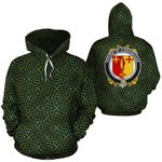 O'Branagan Family Crest Ireland Background Gold Symbol Hoodie