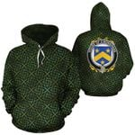 O'Monaghan Family Crest Ireland Background Gold Symbol Hoodie