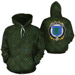 Cotter Family Crest Ireland Background Gold Symbol Hoodie