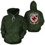 Tickell Family Crest Ireland Background Gold Symbol Hoodie