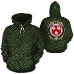 Sinnott Family Crest Ireland Background Gold Symbol Hoodie