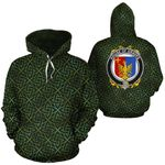 Graves Family Crest Ireland Background Gold Symbol Hoodie