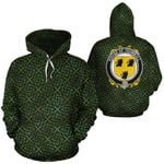 Trumbull Family Crest Ireland Background Gold Symbol Hoodie