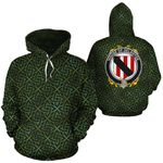 Delahyde Family Crest Ireland Background Gold Symbol Hoodie