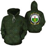 McGuiness Family Crest Ireland Background Gold Symbol Hoodie