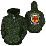 Burrowes Family Crest Ireland Background Gold Symbol Hoodie