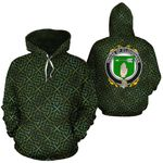 O'Loughnan Family Crest Ireland Background Gold Symbol Hoodie