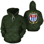 Bagwell Family Crest Ireland Background Gold Symbol Hoodie