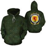 Sutton Family Crest Ireland Background Gold Symbol Hoodie