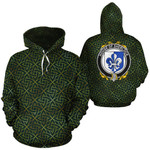 Sherlock Family Crest Ireland Background Gold Symbol Hoodie