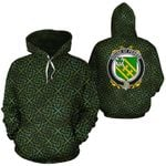 Pearse Family Crest Ireland Background Gold Symbol Hoodie