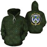 Waters Family Crest Ireland Background Gold Symbol Hoodie