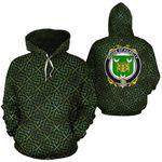 Kilkelly Family Crest Ireland Background Gold Symbol Hoodie