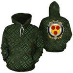O'Gavan Family Crest Ireland Background Gold Symbol Hoodie
