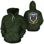 Cooke Family Crest Ireland Background Gold Symbol Hoodie