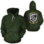 Younge Family Crest Ireland Background Gold Symbol Hoodie