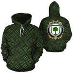 O'Flanagan Family Crest Ireland Background Gold Symbol Hoodie