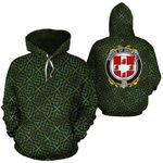 Shortall Family Crest Ireland Background Gold Symbol Hoodie