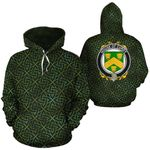 Curdy Family Crest Ireland Background Gold Symbol Hoodie